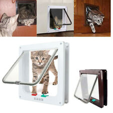 Cat Dog 4 Way Lockable Flap Door Magnetic Gate Flap Door Pet Lock Puppy DogS/M/L