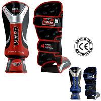 VELO Shin Instep Gel Pads MMA Leg Foot Guards Muay Thai Kick Boxing UFC MMA