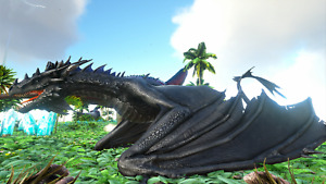 Ark PS4/PS5 PvE Official Blood  Wyvern FULL BLACK TOP STATS 100% Imprinted Unlv