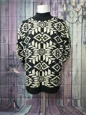 Exclusive Hand Knit For Lauren Ralph Lauren Wool Turtle Neck Sweater Womens L