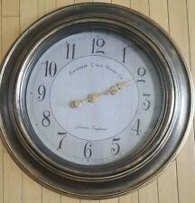 "LARGE 24"" Oversized Round Wall Clock ** Edinburgh Clock Works Co Beautiful"