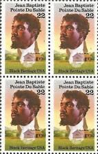 US Stamp-Scott #2249 - 22c Jean Baptiste Pointe du Sable Plate Block of 4 - 1987