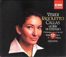 Verdi RIGOLETTO MARIA CALLAS TITO GOBBI Giuseppe Di Stefano Zaccaria Serafin 2cd