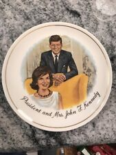 "Vintage President John F, J.F.Kennedy & Mrs John F Kennedy  Gold  trim 7 1/2 """