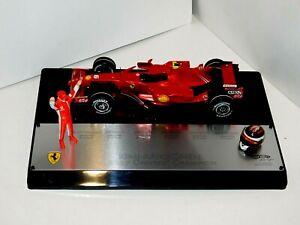 Ferrari F1 Raikkonen World Champion 2007 #6 Figurine Casque HOTWHEELS M0551 1 :