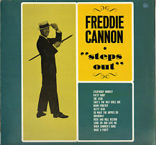 """FREDDIE CANNON """"STEPS OUT"""" ROCK AND ROLL LP OUT LINE"""