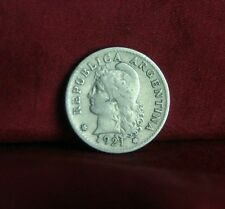 1921 Argentina 5 Centavos World Coin Liberty Cap Head South America five cents