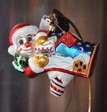 RADKO Christopher GOT MAIL? Christmas Glass Ornament MAILBOX SNOWMAN