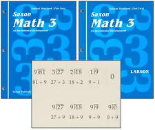 SAXON MATH 3 HOMESCHOOL STUDENT WORKBOOKS & FACT CARDS Set NEW!