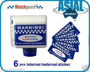 Watchguard Fake DIY Alarm Security Warning Stickers dummy SIREN STROBE Bell Box