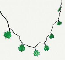3 Sets Green Shamrock String Lights (24 Ft) St Patricks Day Party Decor Patio RV