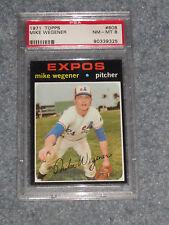 1971 Topps Baseball #608 Mike Wegener PSA 8 NM-MT NQ