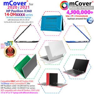 """NEW mCover® Hard Case for 2020 2021 14"""" HP Pavilion x360 14-DHxxxx series laptop"""