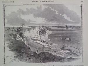 Batteries At Columbus Kentucky Civil War 1861