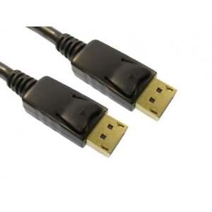3m DisplayPort Cable Lead LOCKING Mac PC Laptop Monitor Display Port