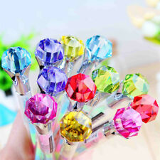 Diamond Head Crystal Roller Ball Pen Ballpoint Pen Writing Stationery Gift