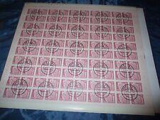 Briefmarken  DDR  ,  Post - Bogen  ,  100  x  20 Pfennig , Berlin Leninplatz