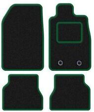 MINI COOPER CONVERTIBLE 2008+ TAILORED CAR MATS BLACK CARPET WITH GREEN TRIM