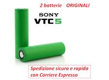 2 batterie ricaricabili Sony Murata US 18650 VTC5 IMR Litio 3,7V  2600 mAh  30Ah
