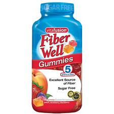 🔥 Vitafusion Fiber Well Gummy Vitamin Supplement 220 CT gummies Sugar Free 🔥