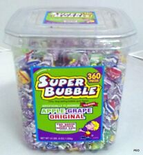 Super Bubble Assorted Gum Tub 360 Pieces Chewing Bulk Original Apple Grape