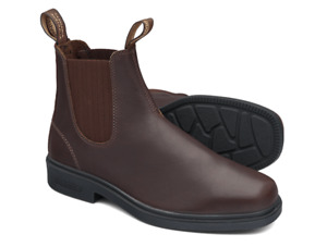 Blundstone Brown Thoroughbred LEATHER Elastic Side Non Safety Boot - V Cut (659)