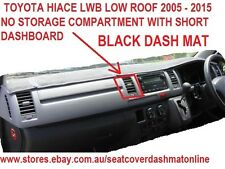 DASH MAT,BLACK DASHMAT,FIT TOYOTA HIACE 2005-2014 LWB LOW ROOF,BLACK