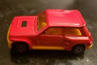 Majorette Red R5 TURBO #255 ECH 1/53 - Vintage 1980s - Made in France