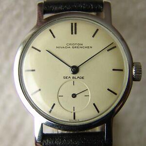 Men's WWII era Croton Nivada Sea Blade good condition vintage wristwatch