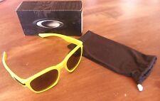 Brand New Oakley Garage Rock Yellow w/Black Lenses Sunglasses Fashion Sport
