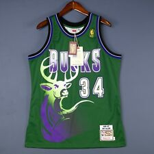 c75ce2f58 100% Authentic Ray Allen Mitchell Ness Bucks Jersey Mens Size 44 L Large