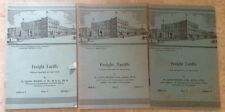 1940, 1958 ICS Railroad Freight Tariffs #5405 A-1,B-1,C3 Edition 1-2 by Wilson