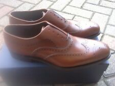 LOAKE 1880 HESTON BROWN CALF LEATHER BROGUES. SIZE 8.  MADE IN ENGLAND.