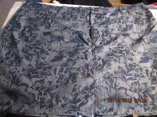 ffb8430cfd2 Croft   Barrow Blue Chambray Tropical Floral Stretch Skort Size 24w