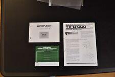 Manuale cartaceo ORIGINALE PIONEER TX-D1000 ! INGLESE