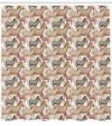 Safari Pattern Shower Curtain Fabric Decor Set with Hooks 4 Sizes