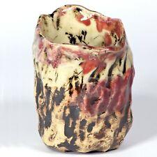 "Skulptur Becher ""Höhle Lascaux"" 11cm b1 Unikat Keramik Andreas Loeschner-Gornau"