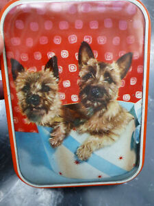 Old Sweet Toffee Tin Yorkshire Terriers Edward Sharp Maidstone