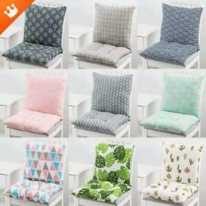 2PCS High Back Chair Tie On Seat Pads Cushions Garden Rocking Deck Chair Cushion