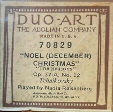 NOEL (DECEMBER) CHRISTMAS THE SEASONS DUO-ART RECUT REPRODUCING PIANO ROLL