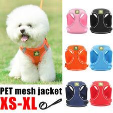 UK Pet Mesh Jacket Non Pull Dog Harness Adjustable Soft Padded Vest Small Medium