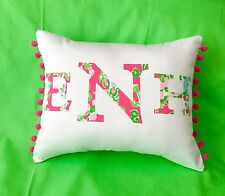 NEW Monogram pillow made with LILLY PULITZER Southern Charm Fabric