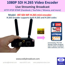 Portable SDI 1080P WiFi H.265 encoder RTMP to Facebook YouTube 4 live streaming
