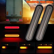 2X Halo Neon 100LED Stop Flowing Turn Signal Brake Rear Tail Light Trailer Truck