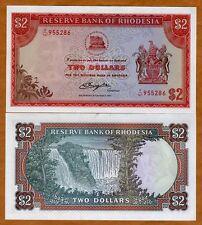 Rhodesia, 2 dollars, 1977, P-31d (35c), UNC