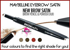 MAYBELLINE BROW SATIN EYEBROW SCULPTING DUO PENCIL STICK & FILLING POWDER BLONDE