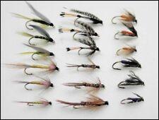 Bagnato Trote Mosche, confezione da 18, 6 varietà di nome, Misto Dimensioni, per pesca a mosca