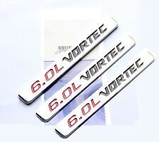 3x OEM 6.0L VORTEC HOOD emblems decal Silverado Chevy 1500 2500 HD GMC 1NEW YU