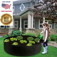 Fabric Garden Bed Breathable Planting Container Felt Round Vegetable Grow Bags