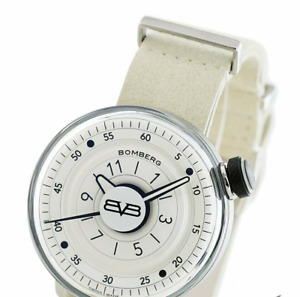 BOMBERG BB-01 silver men's BOMBERG CT43H3SS.02-1.9 mineral glass White Dial